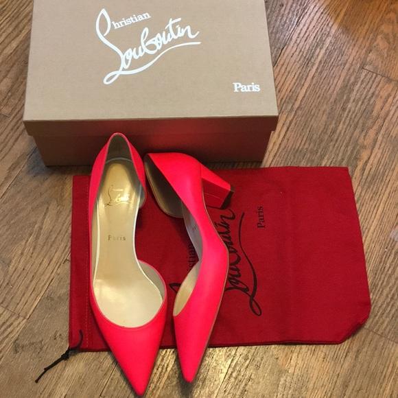 94cb24fd80f Christian Louboutin karera Hot Pink heels